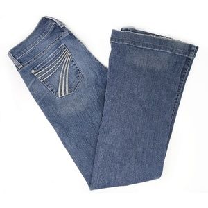 7 For All Mankind Dojo flare medium wash jeans, 26